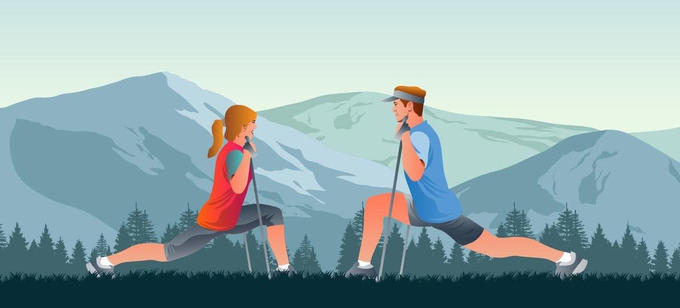Trening nordic walking rozgrzewka