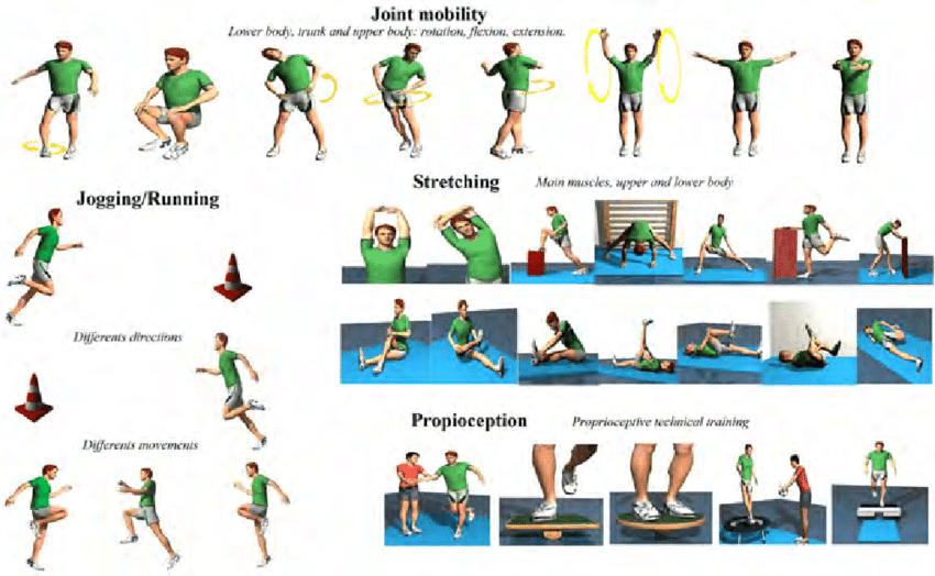 ćwiczenia rozgrzewkowe